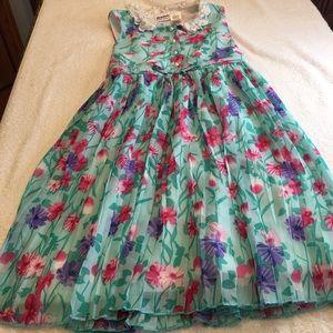 Blueberi Boulevard green pink purple sz 10 dress
